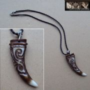 Dinosaur Tooth Necklace - Patterned